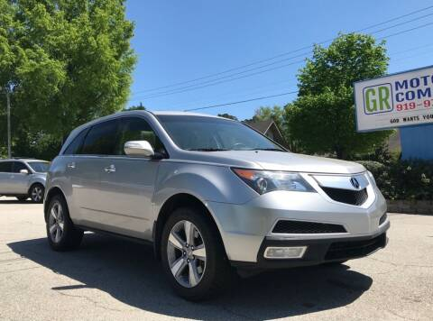 2011 Acura MDX for sale at GR Motor Company in Garner NC