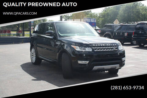 2015 Land Rover Range Rover Sport for sale at QUALITY PREOWNED AUTO in Houston TX