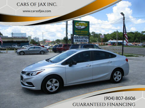 2017 Chevrolet Cruze for sale at CARS OF JAX INC. in Jacksonville FL