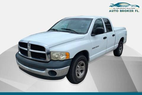 2004 Dodge Ram Pickup 1500 for sale at INTERNATIONAL AUTO BROKERS INC in Hollywood FL