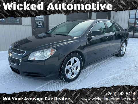 2010 Chevrolet Malibu for sale at Wicked Automotive in Fort Wayne IN