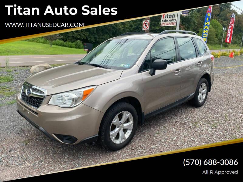 2016 Subaru Forester for sale at Titan Auto Sales in Berwick PA