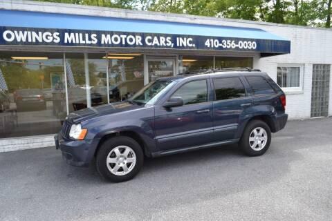 2009 Jeep Grand Cherokee for sale at Owings Mills Motor Cars in Owings Mills MD