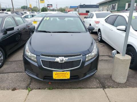 2014 Chevrolet Cruze for sale at Brothers Used Cars Inc in Sioux City IA