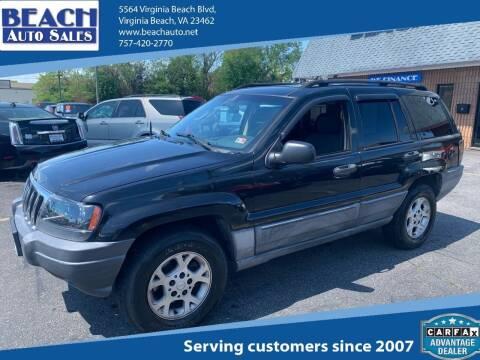 2002 Jeep Grand Cherokee for sale at Beach Auto Sales in Virginia Beach VA