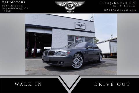 2007 BMW 7 Series for sale at EZP Motors in Reynoldsburg OH