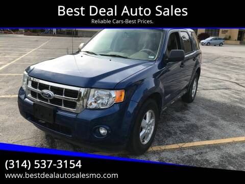 2008 Ford Escape for sale at Best Deal Auto Sales in Saint Charles MO