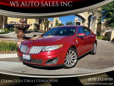 2011 Lincoln MKS for sale at WS AUTO SALES INC in El Cajon CA
