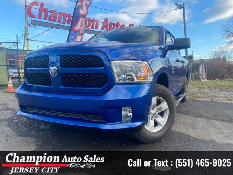 2017 RAM Ram Pickup 1500 for sale at CHAMPION AUTO SALES OF JERSEY CITY in Jersey City NJ