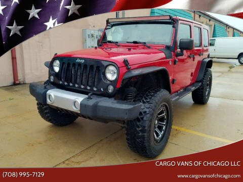 2014 Jeep Wrangler Unlimited for sale at Cargo Vans of Chicago LLC in Mokena IL