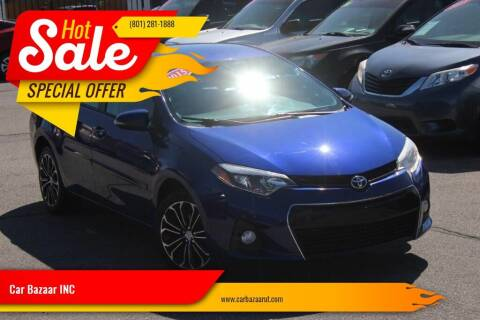 2015 Toyota Corolla for sale at Car Bazaar INC in Salt Lake City UT