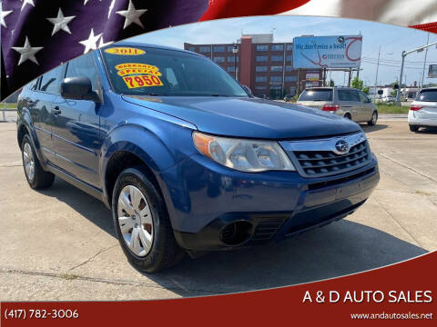 2011 Subaru Forester for sale at A & D Auto Sales in Joplin MO