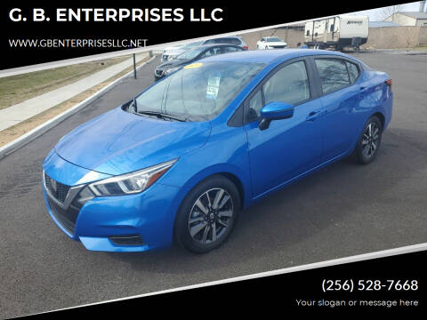 2020 Nissan Versa for sale at G. B. ENTERPRISES LLC in Crossville AL