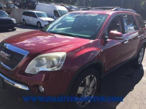 2010 GMC Acadia for sale at J & M Automotive in Naugatuck CT