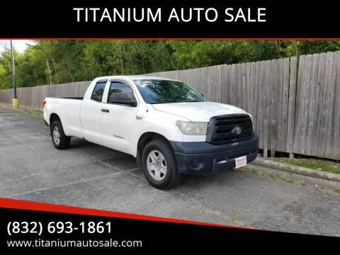 2013 Toyota Tundra for sale at TITANIUM AUTO SALE in Houston TX