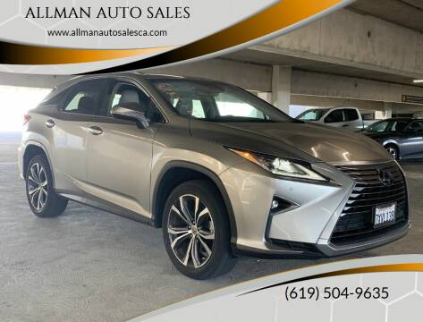 2017 Lexus RX 350 for sale at ALLMAN AUTO SALES in San Diego CA