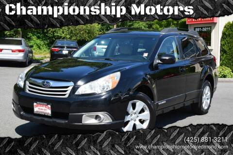 2012 Subaru Outback for sale at Mudarri Motorsports - Championship Motors in Redmond WA