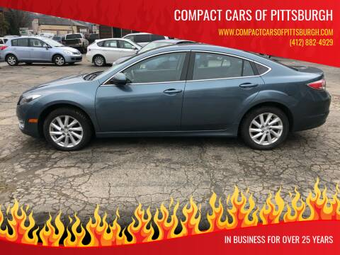 2012 Mazda MAZDA6 for sale at Compact Cars of Pittsburgh in Pittsburgh PA