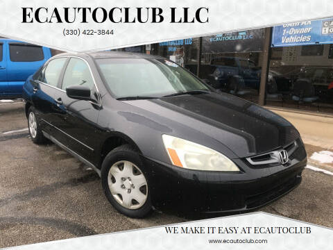 2005 Honda Accord for sale at ECAUTOCLUB LLC in Kent OH
