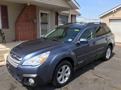 2013 Subaru Outback for sale at Cooks Motors in Westampton NJ