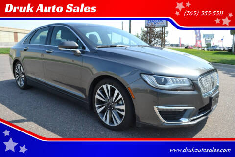 2017 Lincoln MKZ Hybrid for sale at Druk Auto Sales in Ramsey MN