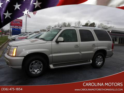 2005 Cadillac Escalade for sale at CAROLINA MOTORS in Thomasville NC