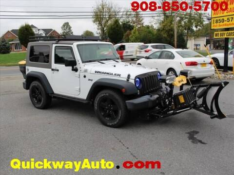 2016 Jeep Wrangler for sale at Quickway Auto Sales in Hackettstown NJ
