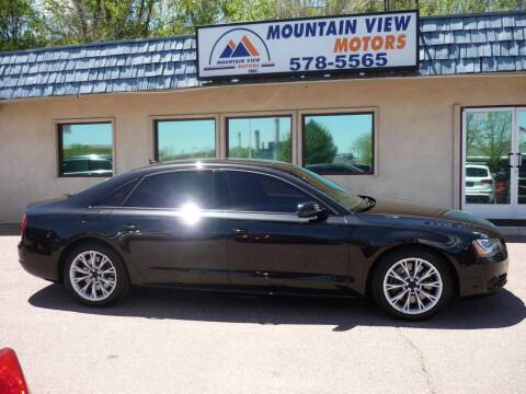 2012 Audi A8 L for sale at Mountain View Motors Inc in Colorado Springs CO