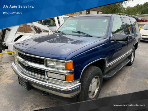 1999 Chevrolet Tahoe for sale at AA Auto Sales Inc. in Gary IN