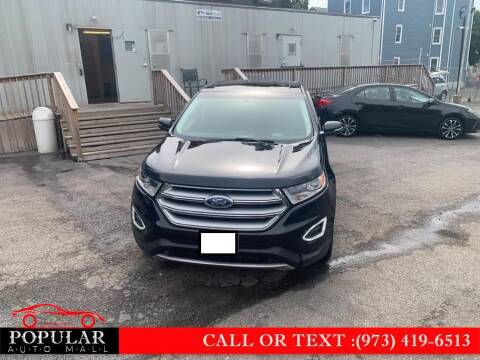 2018 Ford Edge for sale at Popular Auto Mall Inc in Newark NJ