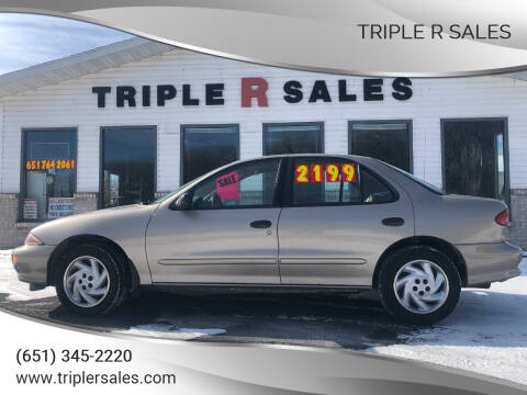 1997 Chevrolet Cavalier for sale at Triple R Sales in Lake City MN