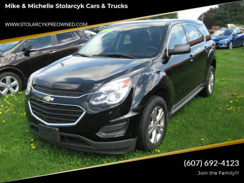 2016 Chevrolet Equinox for sale at Mike and Michelle Stolarcyk Cars and Trucks in Whitney Point NY