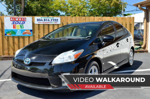 2011 Toyota Prius for sale at ALWAYSSOLD123 INC in Fort Lauderdale FL