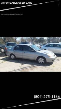 2004 Mitsubishi Lancer for sale at AFFORDABLE USED CARS in Richmond VA