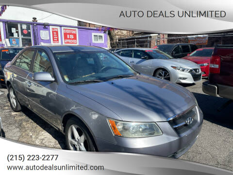 2007 Hyundai Sonata for sale at AUTO DEALS UNLIMITED in Philadelphia PA