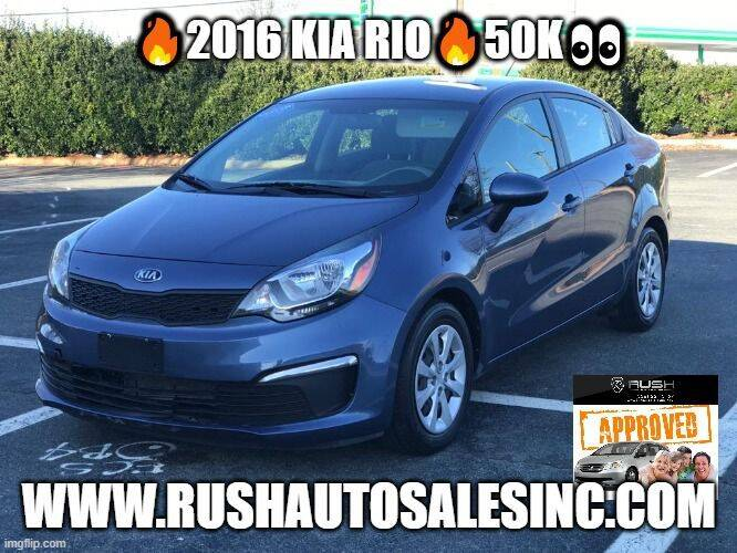 2016 Kia Rio for sale at RUSH AUTO SALES in Burlington NC