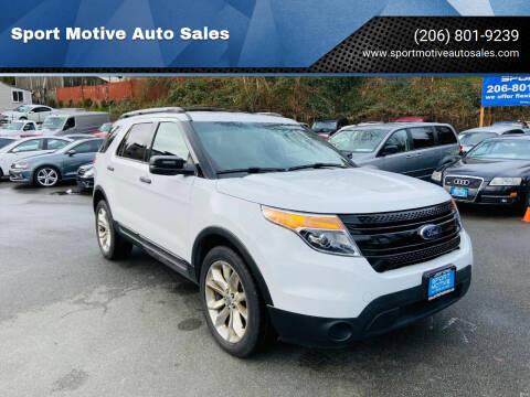 2015 Ford Explorer for sale at Sport Motive Auto Sales in Seattle WA