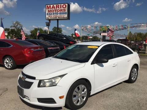 2013 Chevrolet Cruze for sale at Mario Motors in South Houston TX