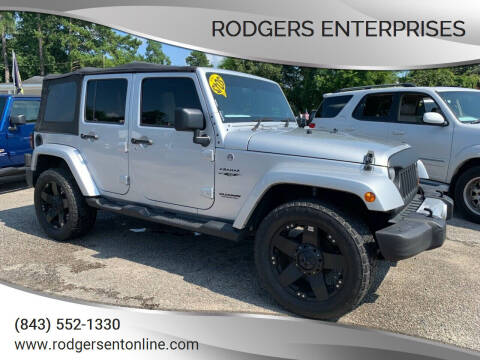 2012 Jeep Wrangler Unlimited for sale at Rodgers Enterprises in North Charleston SC