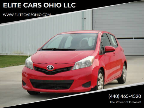2012 Toyota Yaris for sale at ELITE CARS OHIO LLC in Solon OH