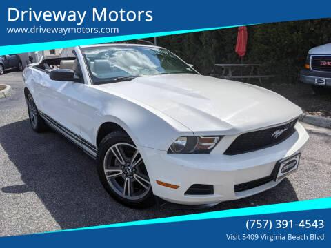 2010 Ford Mustang for sale at Driveway Motors in Virginia Beach VA