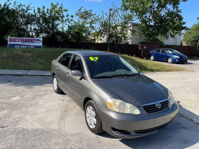 2007 Toyota Corolla for sale at Detroit Cars and Trucks in Orlando FL