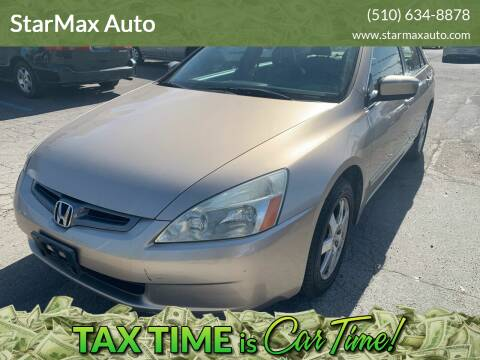 2005 Honda Accord for sale at StarMax Auto in Fremont CA