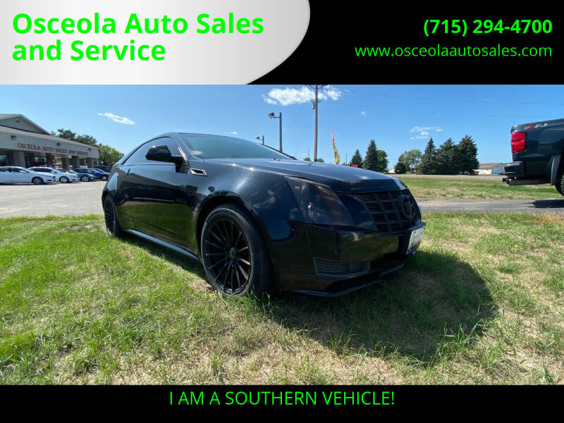 2014 Cadillac CTS for sale at Osceola Auto Sales and Service in Osceola WI