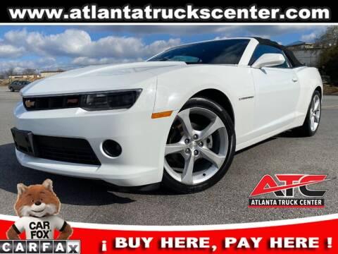 2015 Chevrolet Camaro for sale at ATLANTA TRUCK CENTER LLC in Brookhaven GA