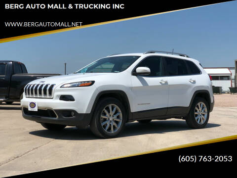 2017 Jeep Cherokee for sale at BERG AUTO MALL & TRUCKING INC in Beresford SD