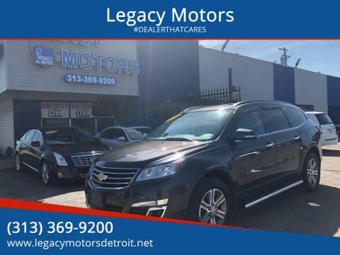 2015 Chevrolet Traverse for sale at Legacy Motors in Detroit MI