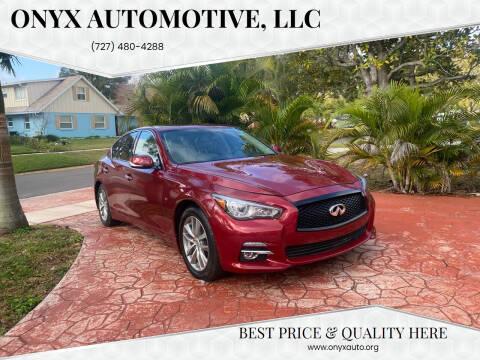 2015 Infiniti Q50 for sale at ONYX AUTOMOTIVE, LLC in Largo FL