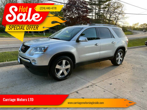2012 GMC Acadia for sale at Carriage Motors LTD in Ingleside IL