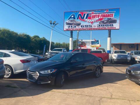 2017 Hyundai Elantra for sale at ANF AUTO FINANCE in Houston TX